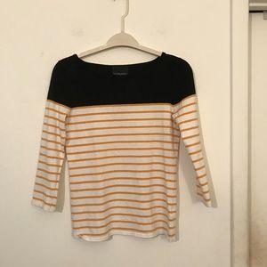 Cynthia Rowley Crew Neck Striped Shirt